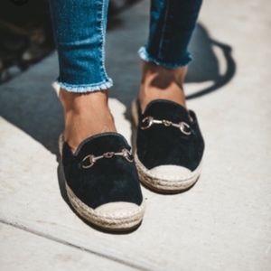 Shoes - Last 2! Black Espadrille Loafer Mule